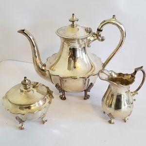 Sheffield Cornish pewter Teapot sugar creamer